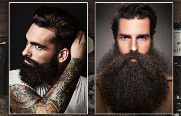 густая борода с усами пышная брода с длинными усами