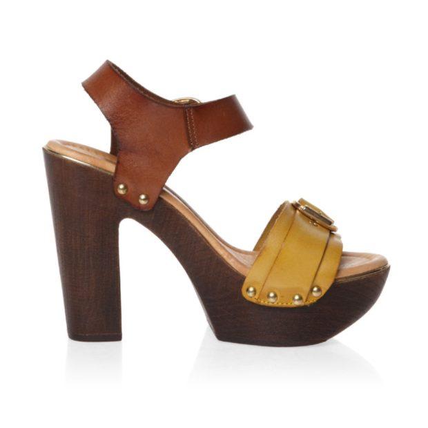 модные босоножки 2018: на деревянной подошве кожаные