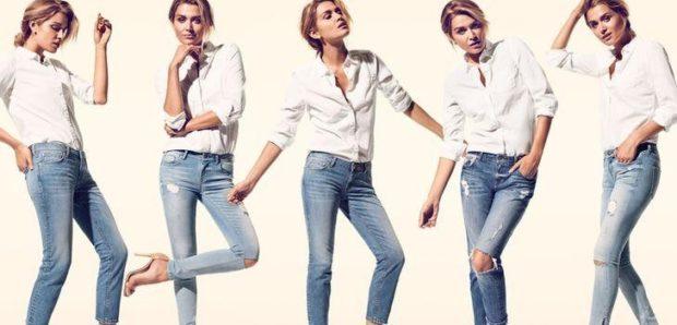 джинсы синие стрейчевые с дырками
