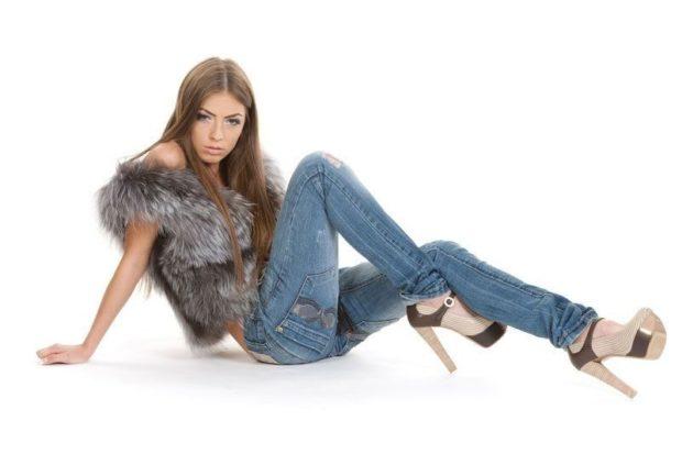 синяя классика джинсы