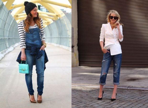 джинсовый комбинезон короткие с дырками