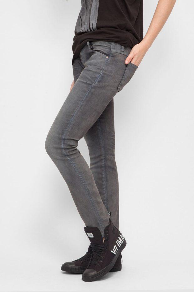 джинсы серые