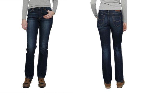 темно-синие классические джинсы