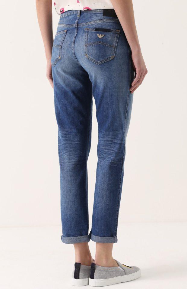 штаны синие с подворотом