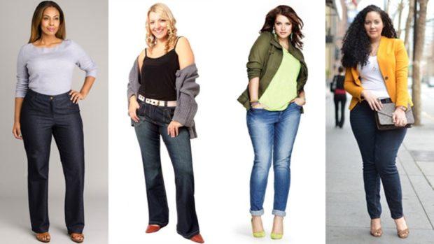 джинсы для полных клеша черные потертые синие потертые черные короткие