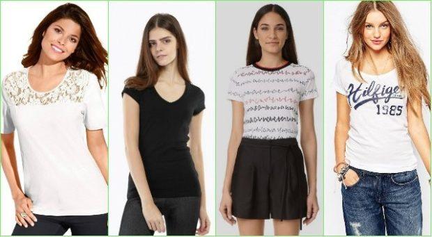 модные футболки 2018 женские: белая с узором черная проста белая с надписями белая с надписью
