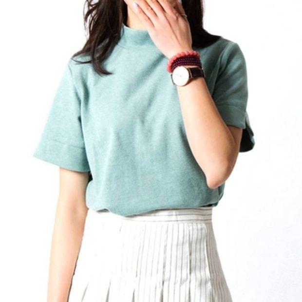 футболки лето 2018 женские: голубая простая