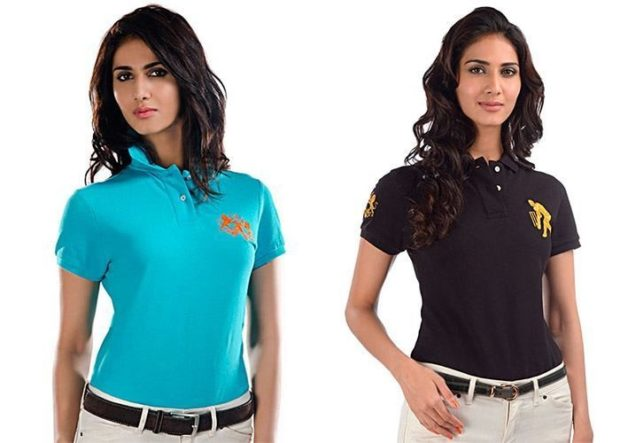 футболки лето 2018 женские: голубая черная с воротником