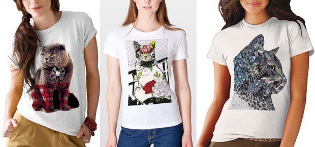 модные футболки 2018 женские фото: белые с котами