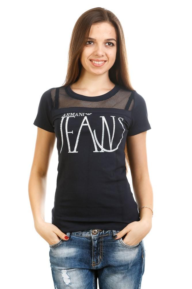 футболка Армани черная