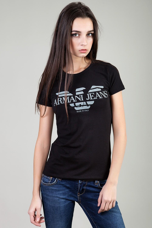 футболка черная Армани
