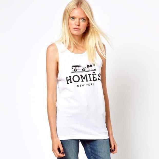 футболка без рукава белая с рисунком