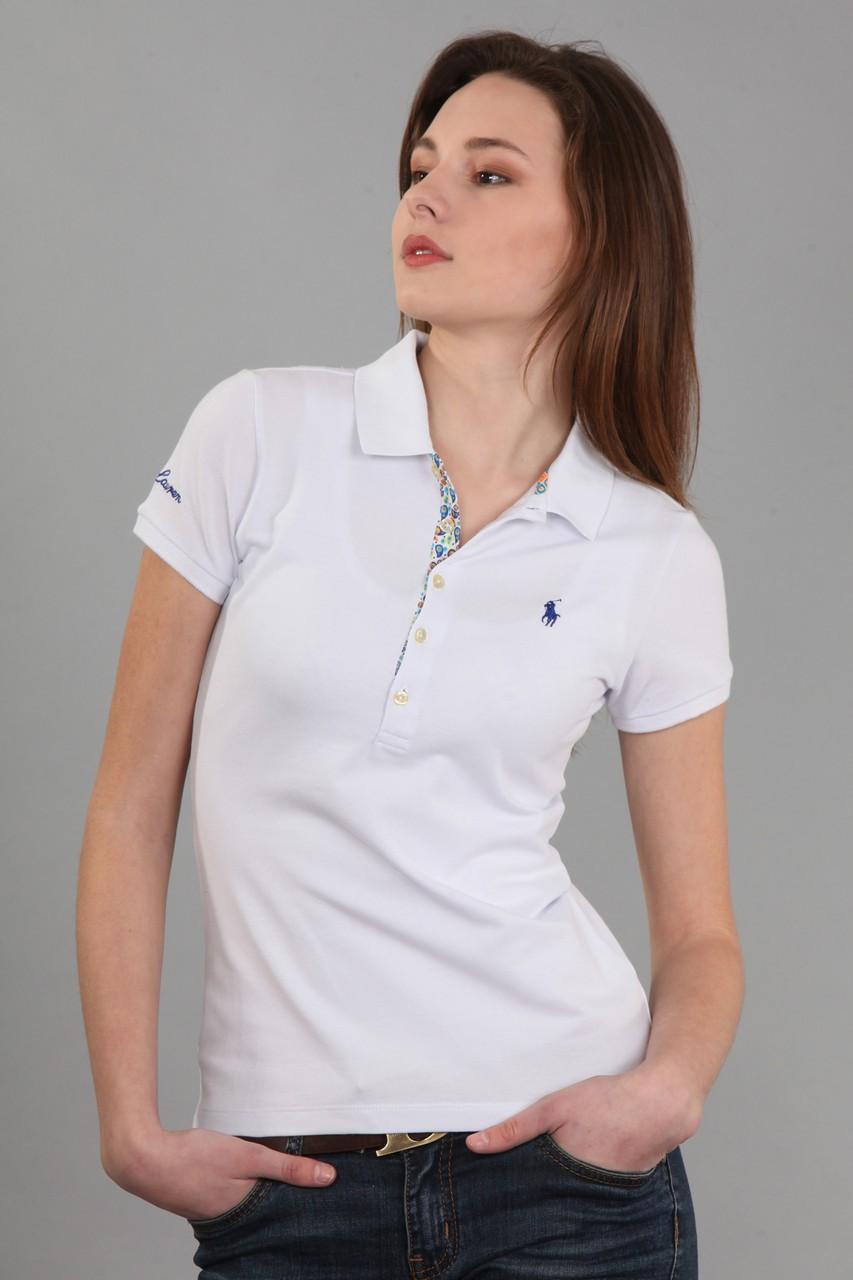 футболка с воротничком рукав короткий белая