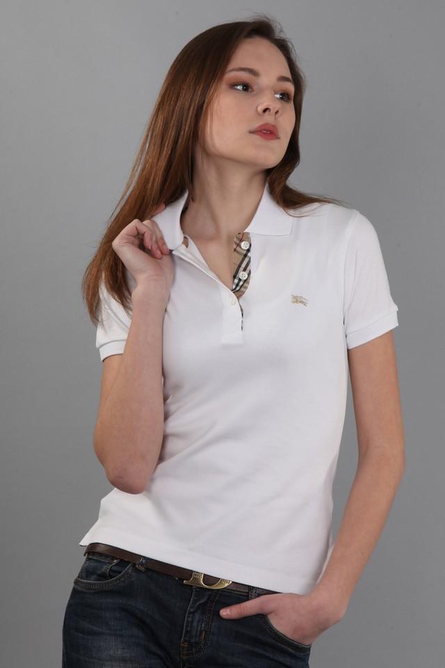 футболка с воротничком белая с коротким рукавом