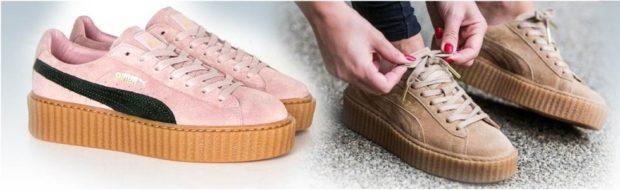 кеды 2019-2020 женские фото: розовые коричневые на толстой подошве на шнурках