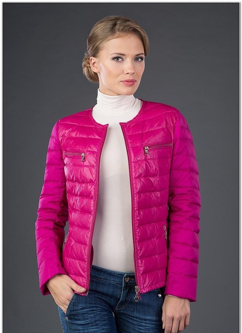 куртка на синтепоне яркая малиновая