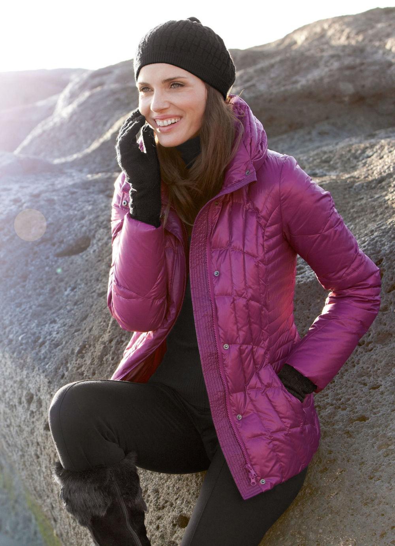 куртка на синтепоне фиолетовая классика