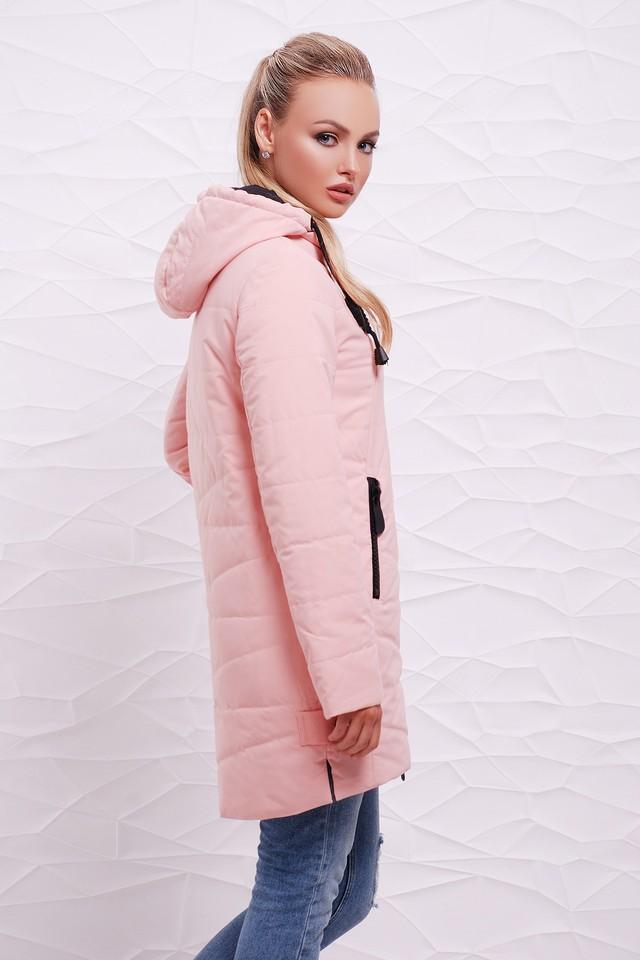 куртка на синтепоне розовая асимметрия