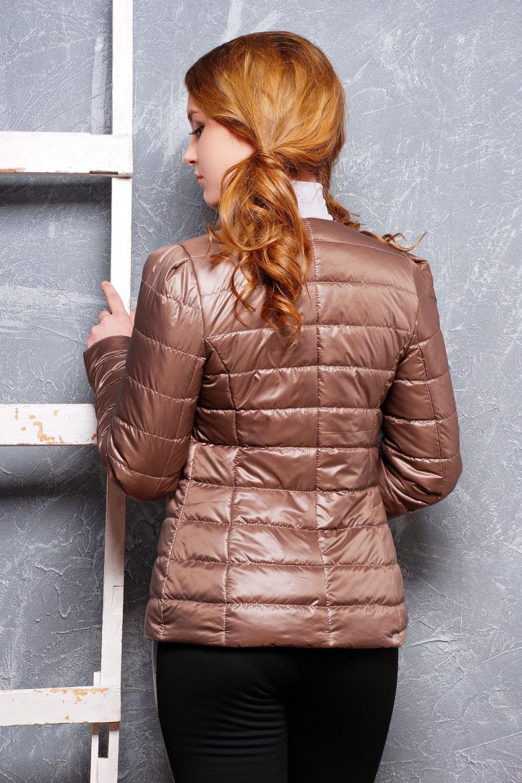 куртка на синтепоне коричневая стеганая