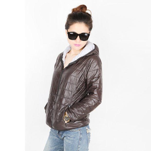 куртка на синтепоне коричневая легкая