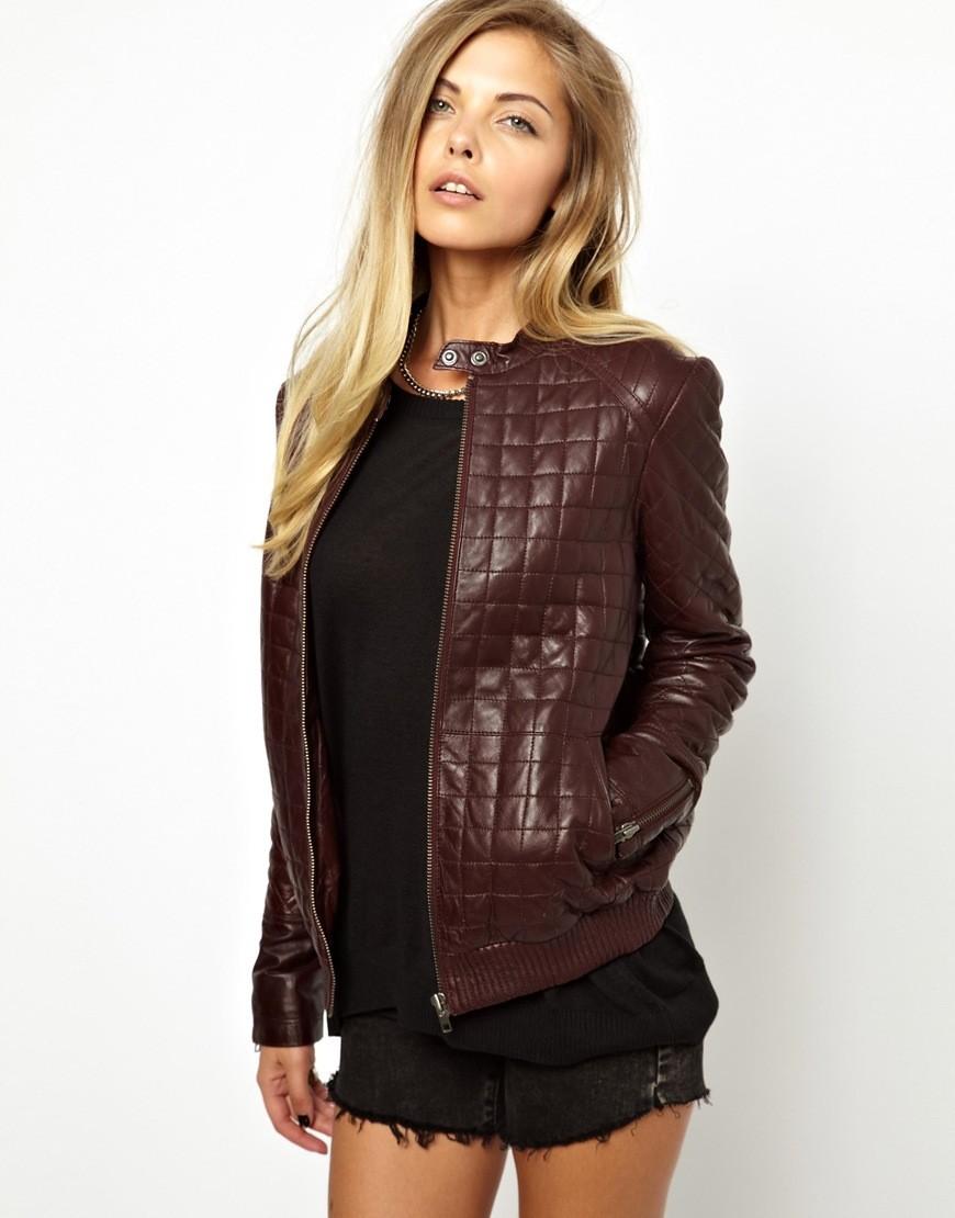 куртка на синтепоне коричневая стежка квадрат