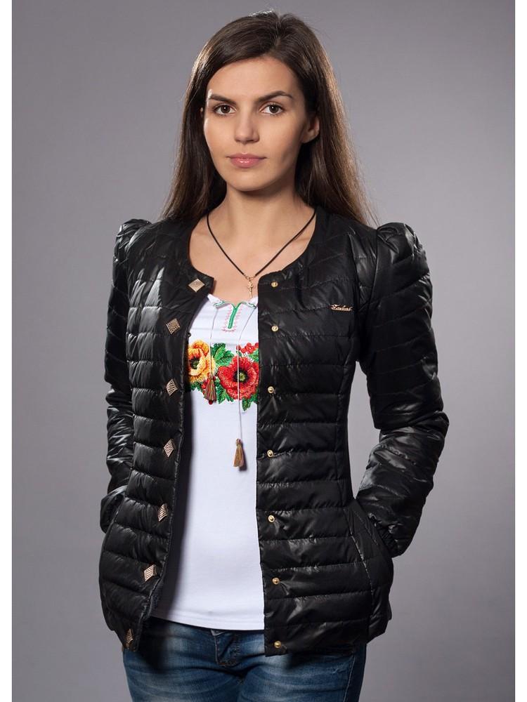 куртка на синтепоне черная с оригинальными куртками