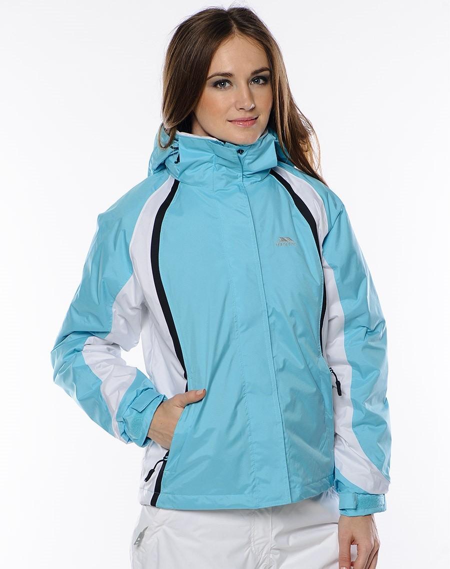 куртка на синтепоне голубая с белым спортивная