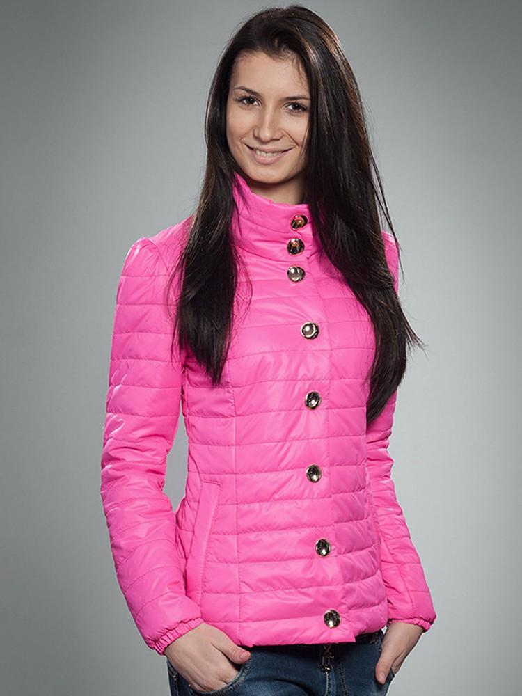 куртка на синтепоне розовая классика