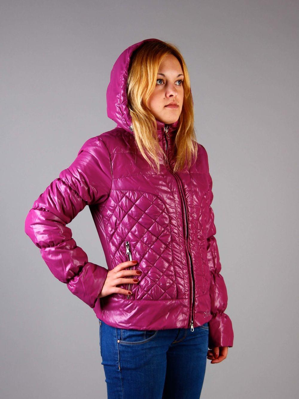 куртка из синтепона розовая короткая