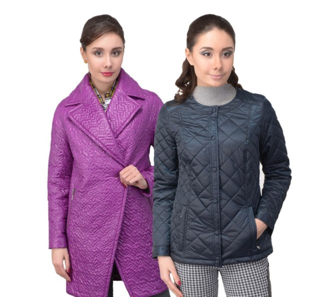 куртка на синтепоне фиолетовая без застежки черная короткая