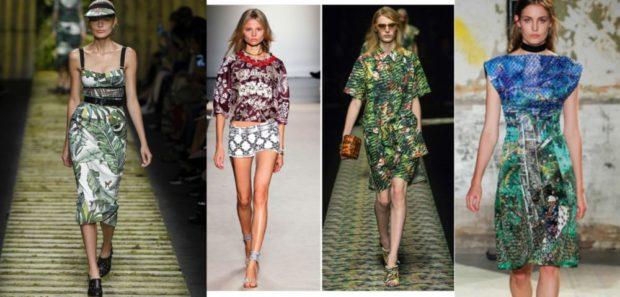 модные принты 2018 2019: летняя одежда в цветы