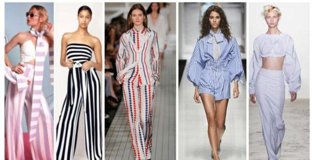модные принты 2018 2019: полосатые вещи в вертикальную полоску