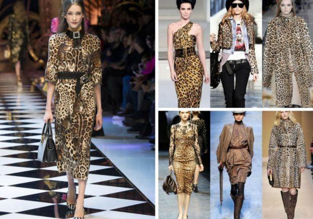 модные принты 2018 2019: леопардовый платье сарафаны пальто жакет