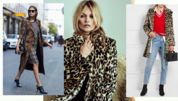 модные принты 2018 2019 года в одежде: леопардовое пальто длинное короткое