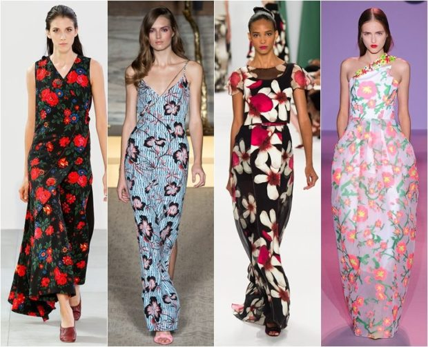 модные принты 2018 2019: сарафаны длинные в цветы