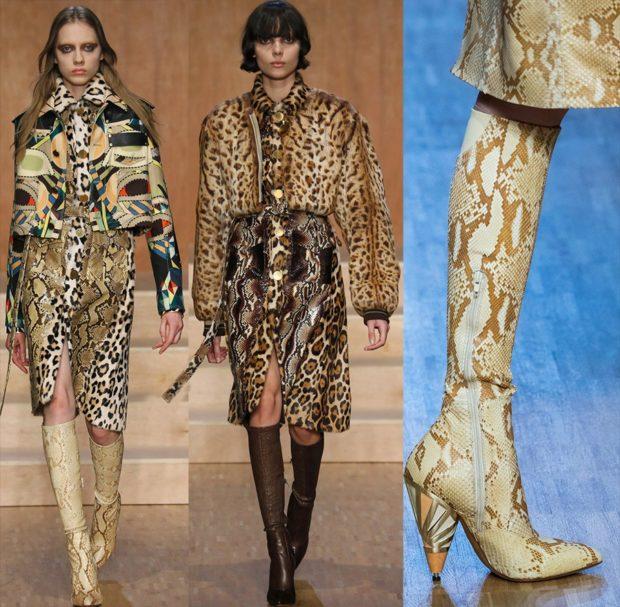 леопардовое плеть по колено куртка коротка сапоги змеиные