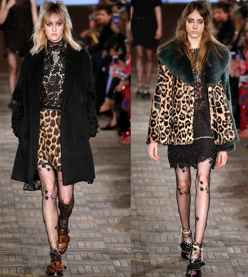 леопардовый принт юбка короткая кофточка пальто с мехом