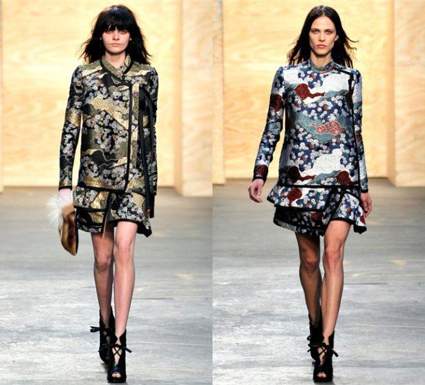 юбки с пиджаком черное с золотым цветами цветное в цветы