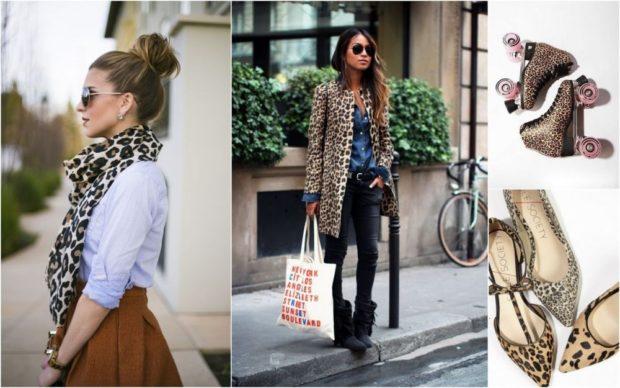Модные принты осень зима 2019 2020: леопардовый шарфик пальто туфли