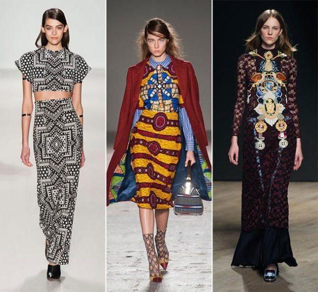 Модные принты осень зима 2019 2020: платья юбка платье с аппликацией длинное