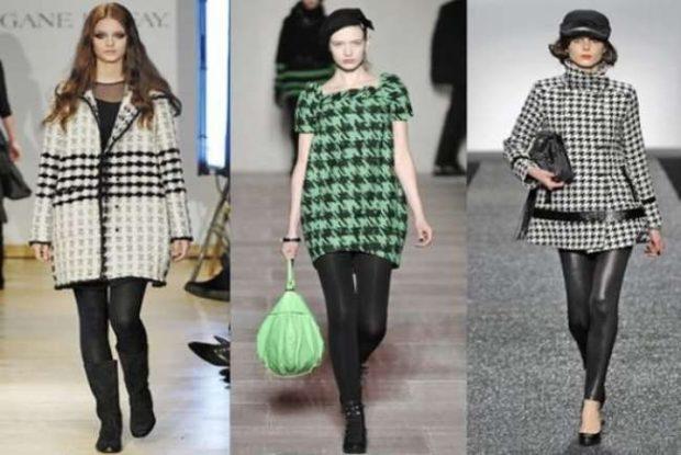 Модные принты осень зима 2019 2020: пальто клетка
