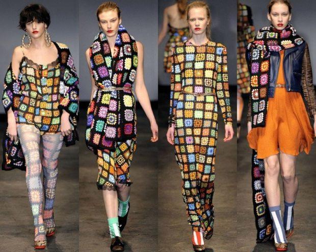 одежда в цветные квадраты