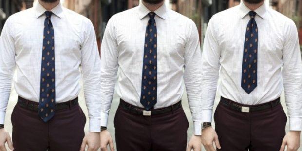 галстук синий с золотыми кружочками