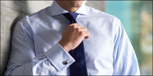 галстук синий шелковый
