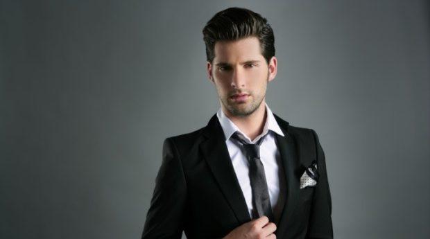 галстук черный шелковый