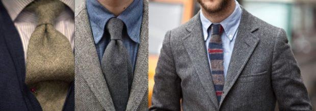 галстук коричневый мешковина серый серый с синим