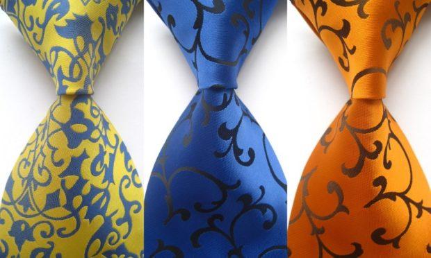 галстуки цветные с вензелями