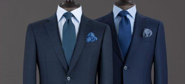галстуки синие классика