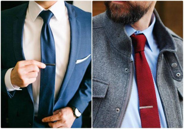 галстук черный красный средней ширины