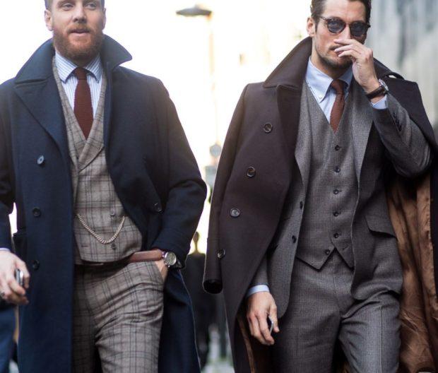 галстук коричневый классика